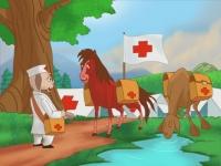 Ngựa đỏ và lạc đà